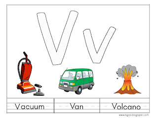 تعليم الاطفال حرف V