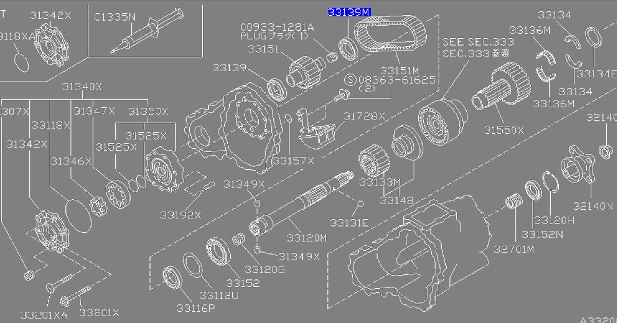 Transfer case Internal Parts R32, R33, R34 GT-R. How the