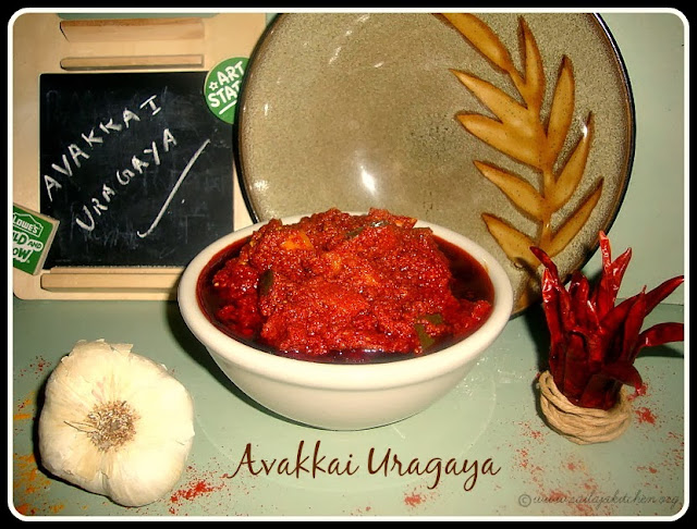 images for Avakkai Uragaya / Avakai Ooragaya/ Avakaya Urugai / Andhra Style Mango Pickle