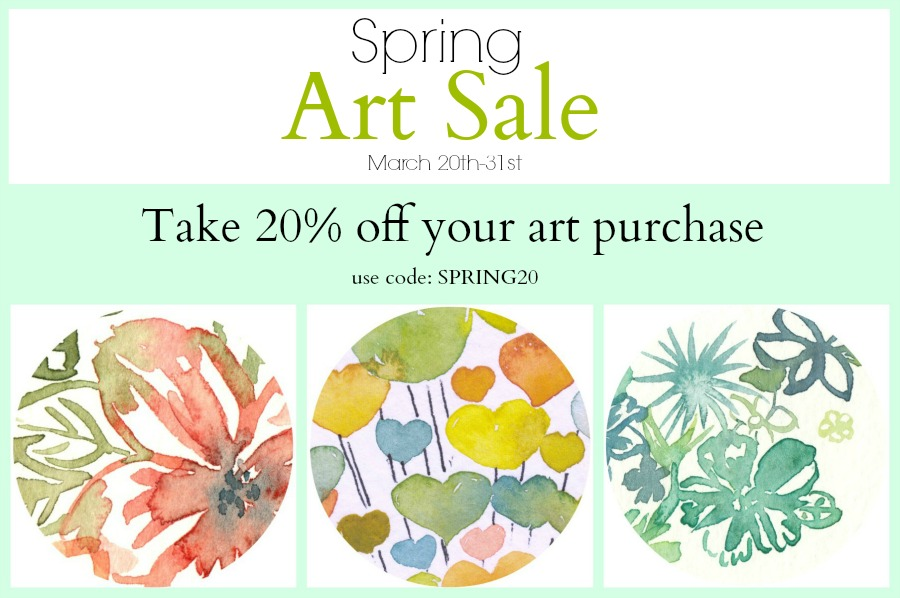 Spring Art Sale- Original Watercolor Paintings and Fine Art Prints by Elise Engh.