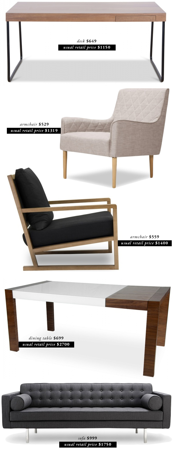 Live Creating Yourself.: designer furniture for less