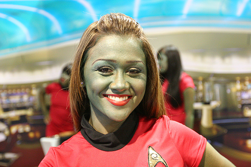 Greeb Star Trek Red Shirt cosplay