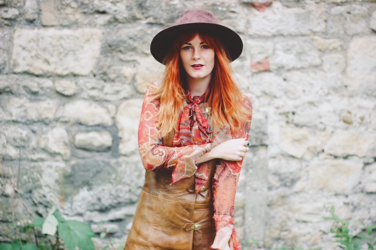 Beyond Retro Vintage Leather Buckle Dress