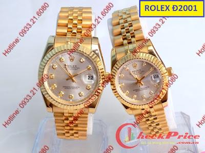 Đồng hồ đeo tay cặp đôi dây inox Rolex Đ2001