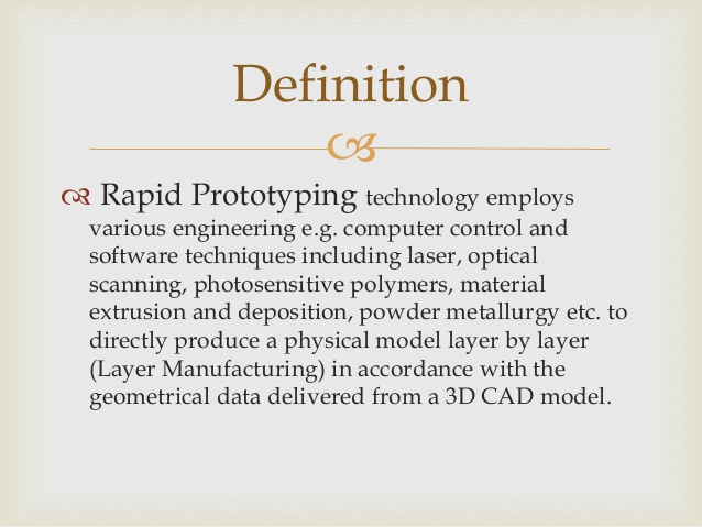 Rapid Manufacturing Definition