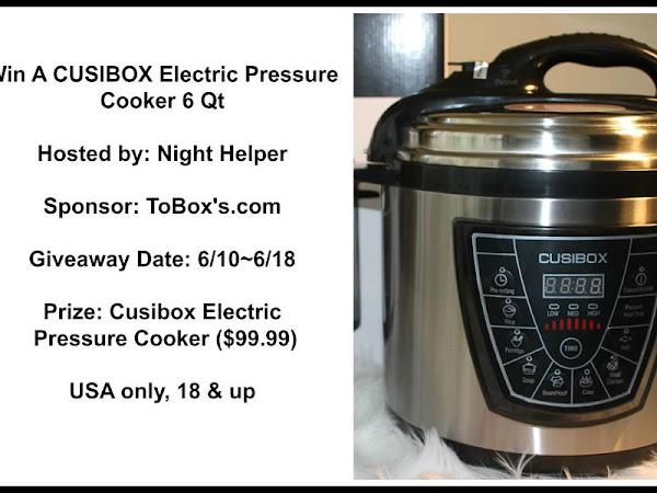 CUSIBOX Electric Pressure Cooker 6 Qt. #Giveaway