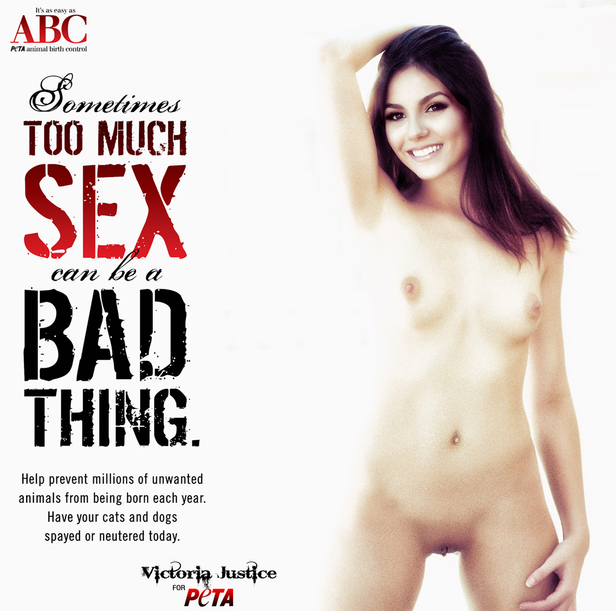 Victoria Justice Nude Possing Her Boobs Tits  Pussy Fake -4783