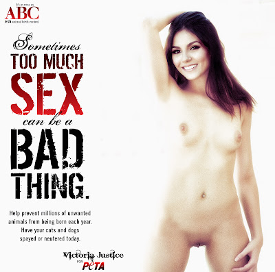 030075014 VJ high key Peta ad 123 525lo Victoria Justice Nude Possing her Boobs TIts & Pussy Fake