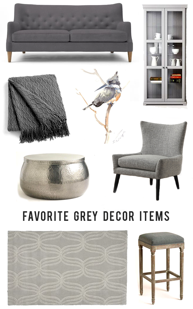 Grey Home Decor Roundup // Bubby and Bean