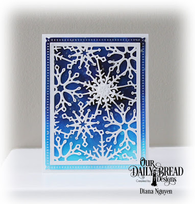 Our Daily Bread Designs Custom Dies: Snowflake Crystals, Snowflake Sky
