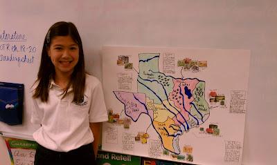 Regions Of Texas Map 4th Grade.Ccs Fourth Grade Texas Regions Project