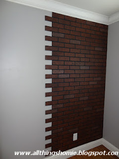 All Things Homie Faux Brick Wall