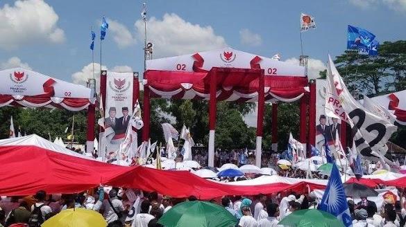 Prabowo Kampanye di Solo, Pendukung Datang Naik Kuda hingga Pasang Spanduk 'Solo Kota Prabowo'