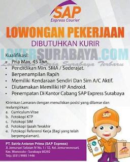 Lowongan Kerja di PT. Satria Antaran Prima (SAP Express) Surabaya Terbaru Mei 2019