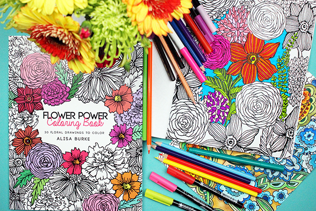 Alisaburke Flower Power Coloring Book On Sale And A Free Download For You