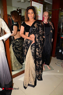 Actress Neetu Chandra Stills in Black Saree at Designer Sandhya Singh's Store Launch  0039.jpg