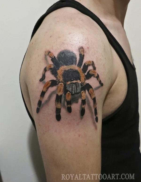 Tatuaje-Tarántula-Hombro