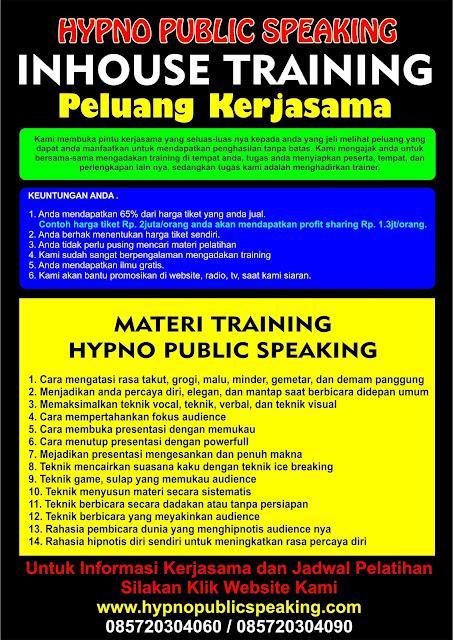 peluang kerjasama kursus public speaking jakarta
