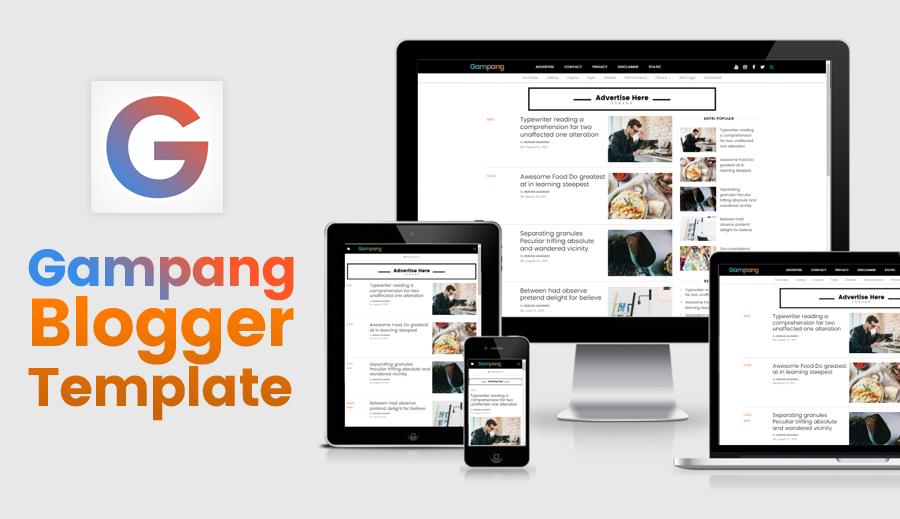 Gampang Clean and Responsive Blogger Template
