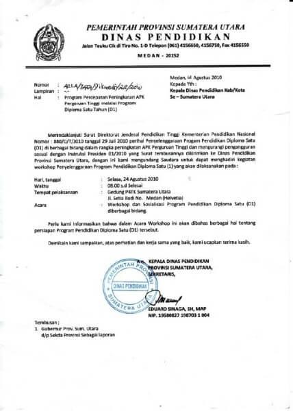 Pisang Parasidiaca Membuat Surat Resmi Di Ms Word 2010