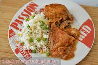 Κόκορας Κρασάτος με πολύχρωμο ρύζι - by https://syntages-faghtwn.blogspot.gr
