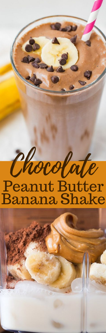 Chocolate Peanut Butter Banana Shake #drink #healthydrink