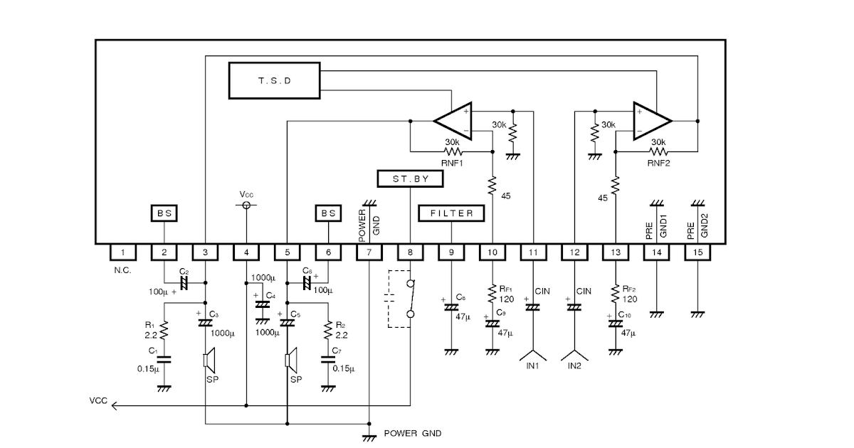 elektronika 25 skema rangkaian elektronika ba5417 stereo