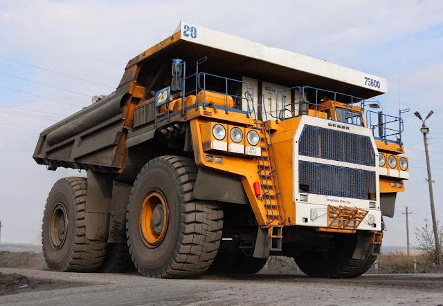 Belaz 75600 Mining Truck - maiores caminhões de mineração do mundo