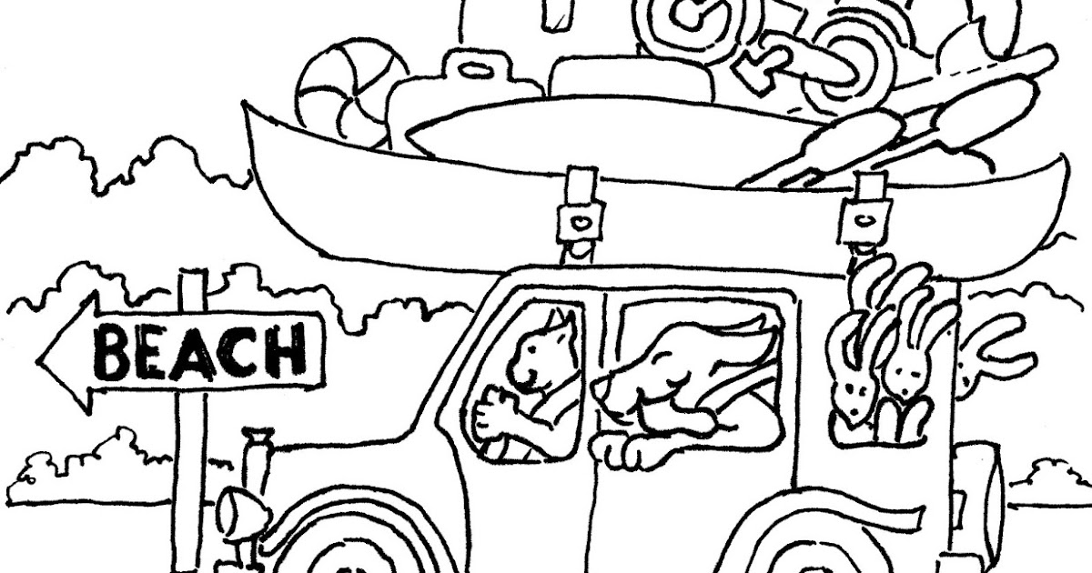 Coloring Pages for Kids by Mr. Adron: Animal Friends Drive