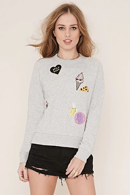 Patches on my pullover, $19.90 from Forever 21