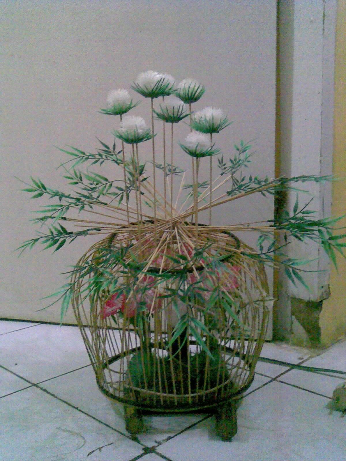 Lampion Vas bunga Rotan   Kerajinan Rotan,Kayu dan Bambu