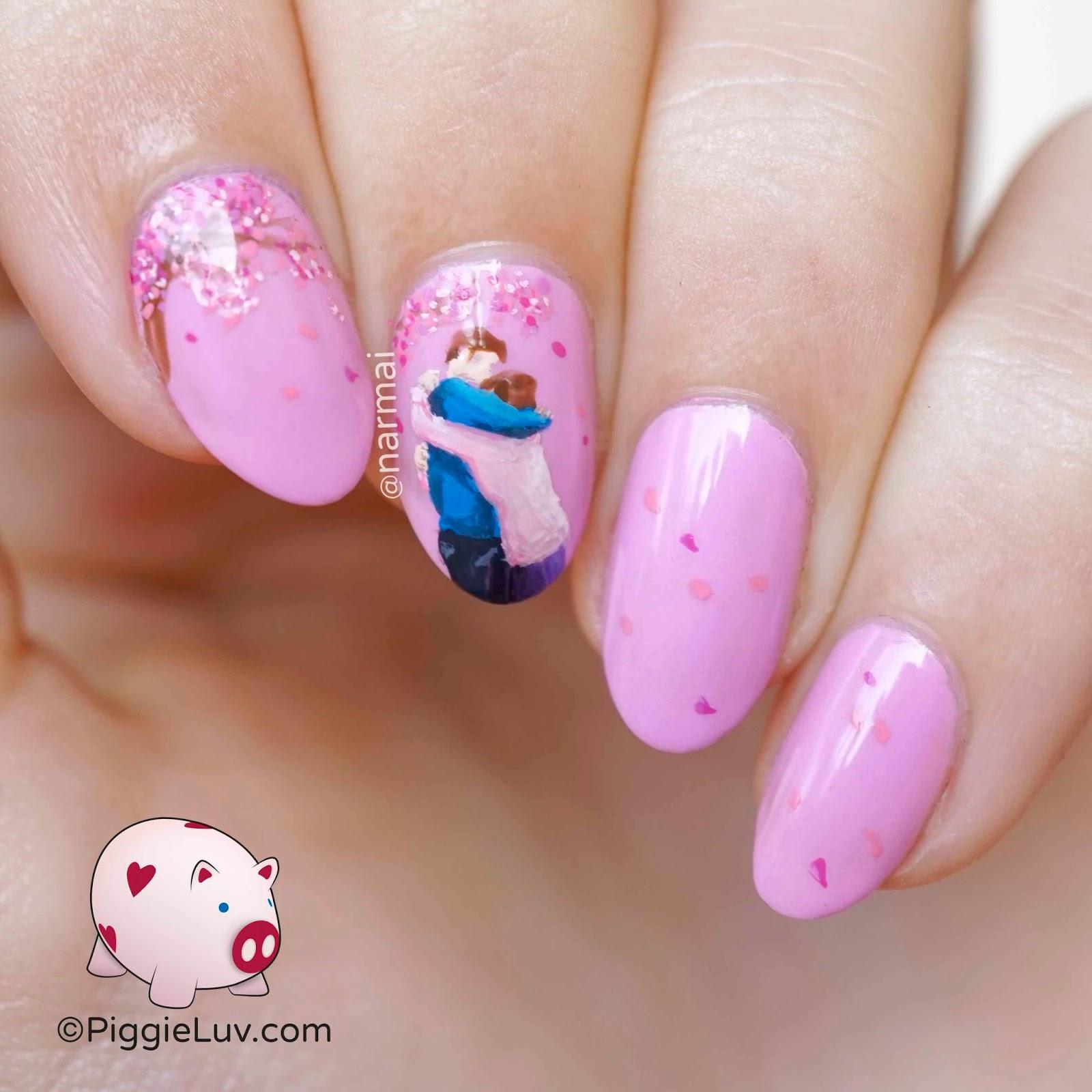 Piggieluv Rainbow Bubbles Nail Art: PiggieLuv