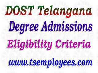 DOST Telangana Degree Admissions Eligibility 2017-18