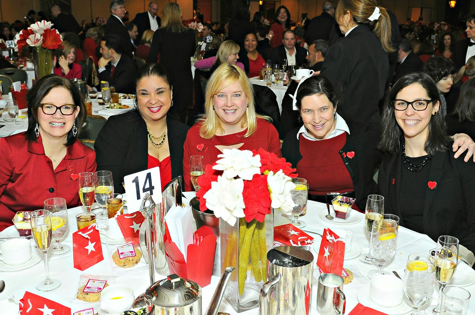Table 14 Grain Foods Foundation Silver Heart Sponsors of Go Red For Women Luncheon 2014 in New York City. charity, charitable initiatives, philanthropy