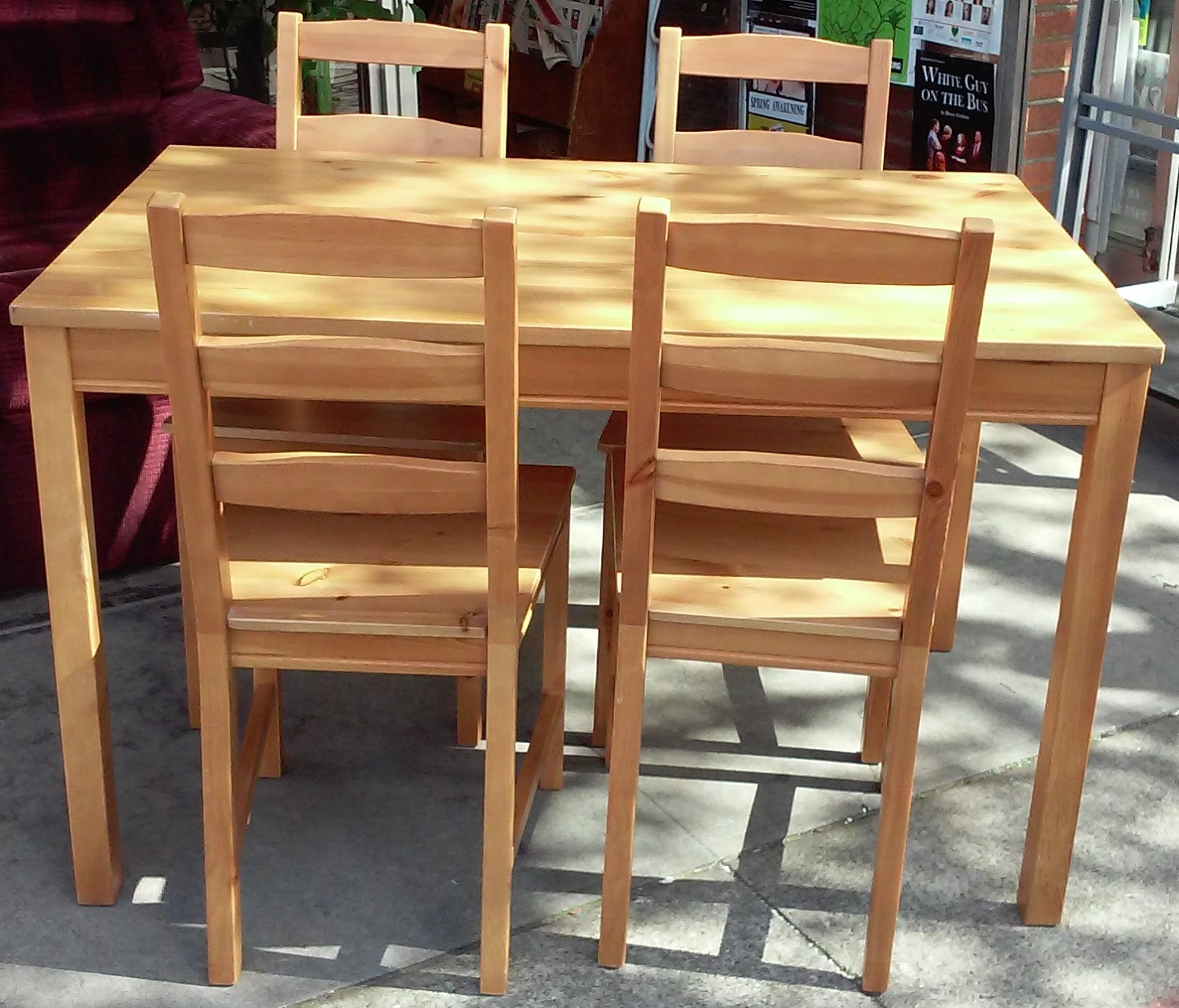 Uhuru furniture collectibles sold ingo ivar 4 place for Table 4 places