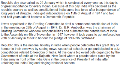 Essay on Republic Day (26th January)