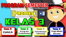 Promes K13 Kelas 3 dan Kelas 6 Semester 2 Revisi 2018