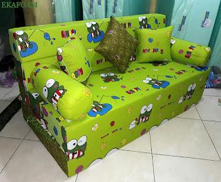 Sofa bed inoac motif keroppy lama