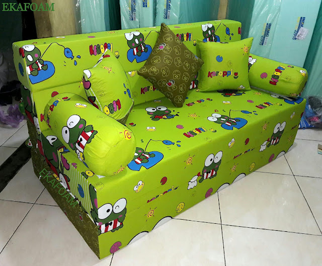 Sofa bed inoac motif keroppy lama