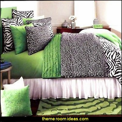 STUDIO D Black White CATZ Zebra Cheetah TWIN COMFORTER & SHAM SET