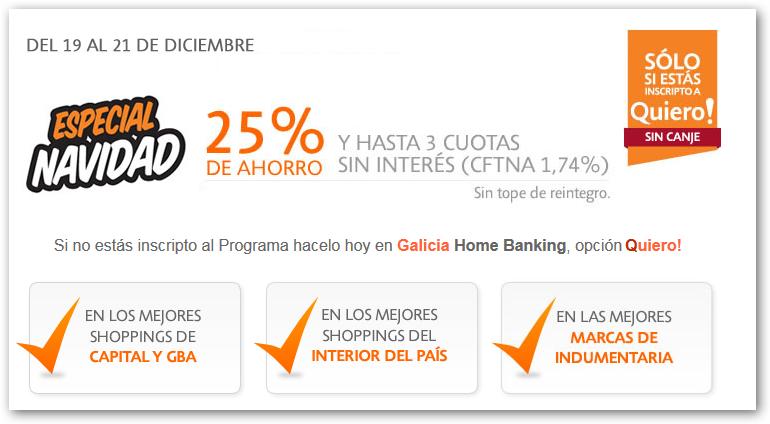 ofertas y promos en argentina promo banco galicia navidad. Black Bedroom Furniture Sets. Home Design Ideas