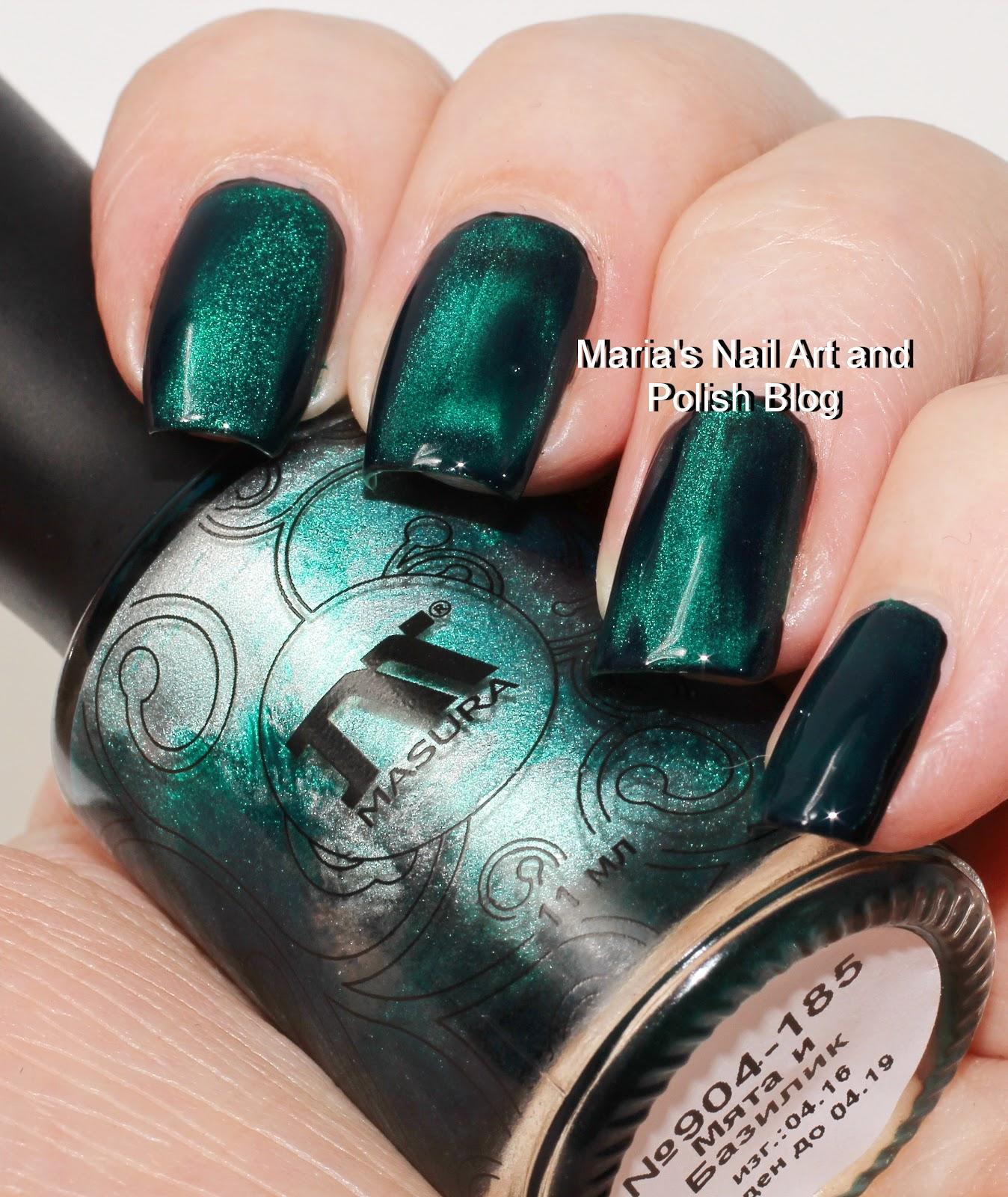 Marias Nail Art and Polish Blog: Masura Mint and Basil 904-185 swatches