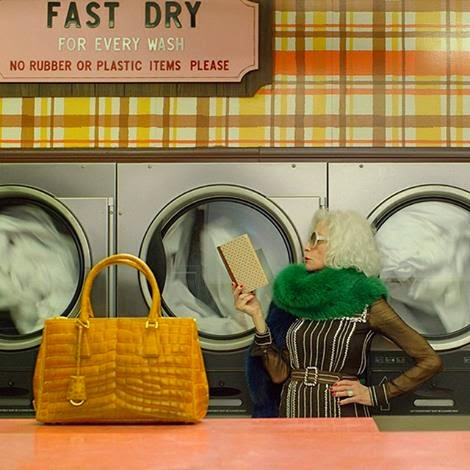 Older Models, jumpsuits and the Prada Laundromat Video