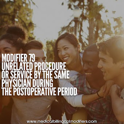 Modifier 79 definition - Unrelated procedure by the same physician during the postoperative period