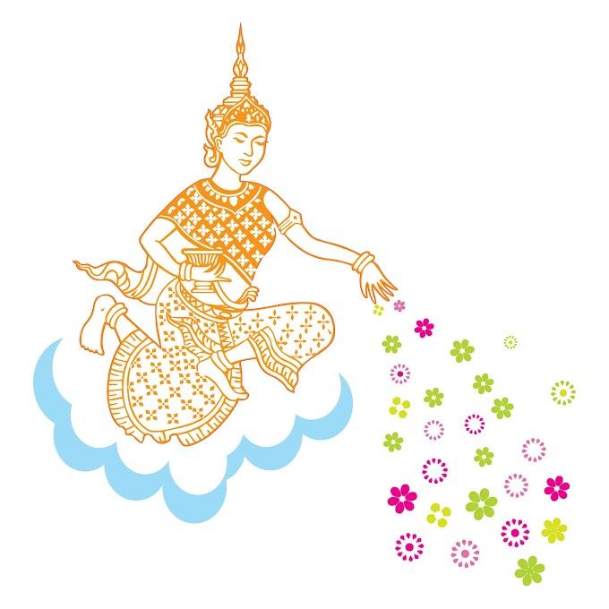 Khmer Angel, khmer graphic vector free vector file