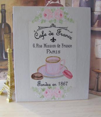 Paris Cafe Macaron Painting