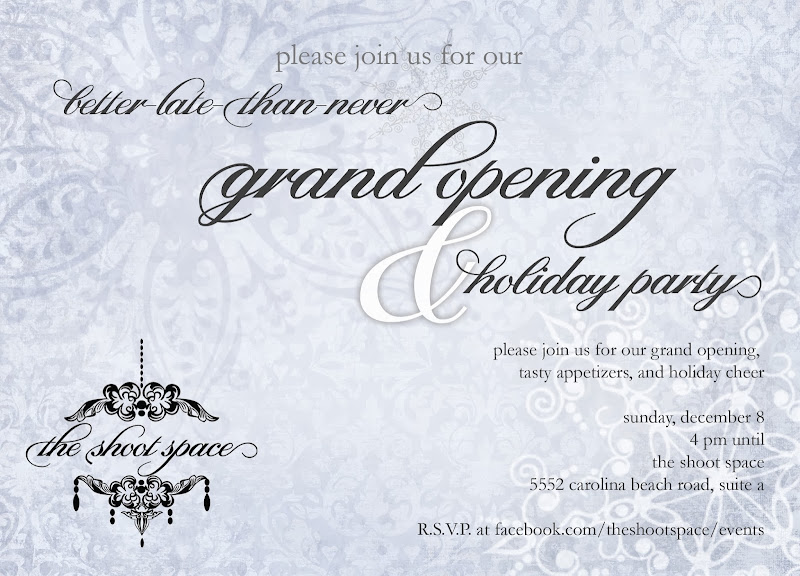 Wilmington NC photography studio for rent | Please join our Holiday Party this Sunday :-)