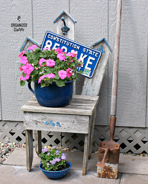 Rummage Sale Garden Junk Chair Vignette