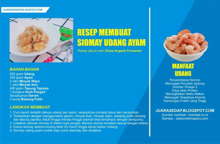 Resep Siomay Udang Ayam dan Manfaat Udang