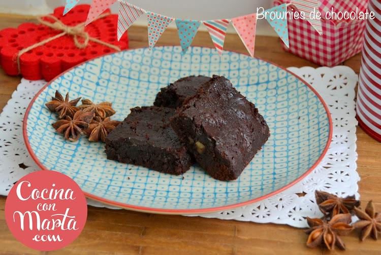 brownie de chocolate, brownies, sin lactosa, alergia a la proteína de la leche, postre para alérgicos, fácil, rápida, receta casera, cocina con marta